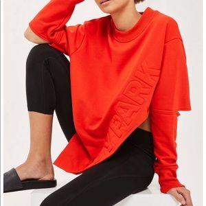 Ivy Park red asymmetrical sweatshirt
